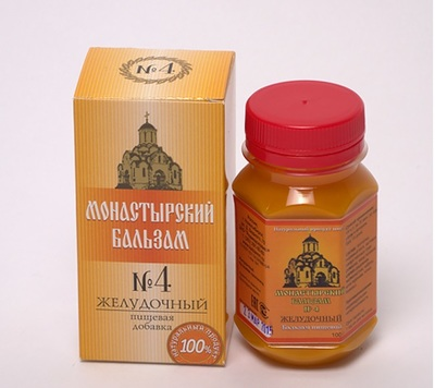 Монастырский бальзам №4 (желудочный) ТУ 9281-001-54388986-04