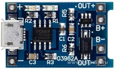 Модуль заряда TP4056-Micro Protect